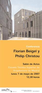 Conferencia de los arquitectos Florian Beigel y Philip Christou en Madrid