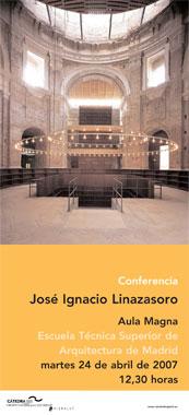 Conferencia del arquitecto José Ignacio Linazasoro, director de la Cátedra, en Madrid