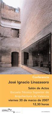 Conferencia del arquitecto José Ignacio Linazasoro, director de la Cátedra, en Valencia